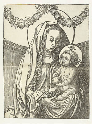 Virgin And Child, Circle Of Lucas Van Leyden Poster by Circle Of Lucas Van Leyden