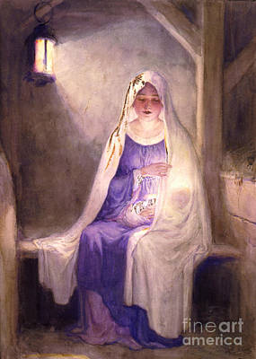 Virgin Mary Holding Baby Jesus 1912 Poster by Padre Art