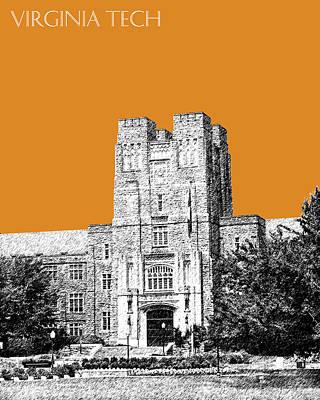Virginia Tech - Dark Orange Poster by DB Artist