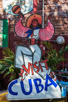 Visit Cuba Sign Key West Poster by Ian Monk