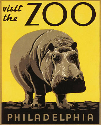 Visit The Philadelphia Zoo Poster by Bill Cannon
