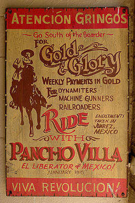 Viva Revolucion - Pancho Villa Poster by Richard Reeve
