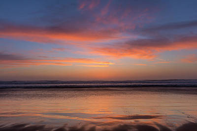 Vivid Sunset Over The Pacific Ocean Poster by Chuck Haney