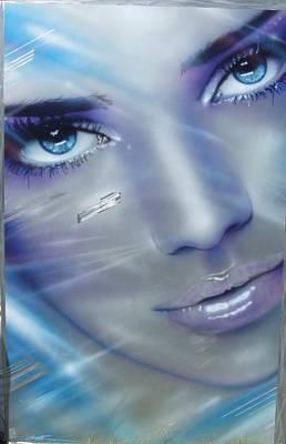 Portrait - ' Vogue ' Poster by Christian Chapman Art