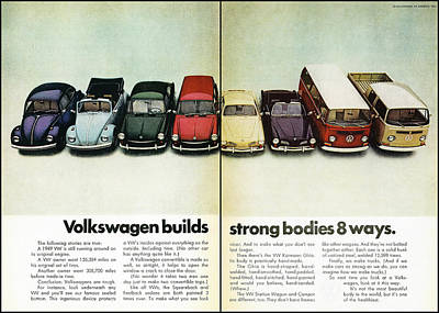 Volkswagen Builds Strong Bodies In 8 Ways Poster by Georgia Fowler