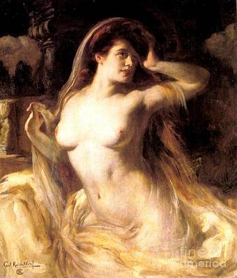 Voluptuous Nude Poster by Pg Reproductions