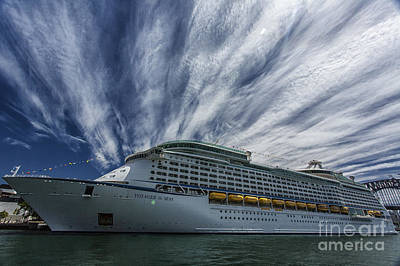 Voyager Of The Seas Poster by Avalon Fine Art Photography