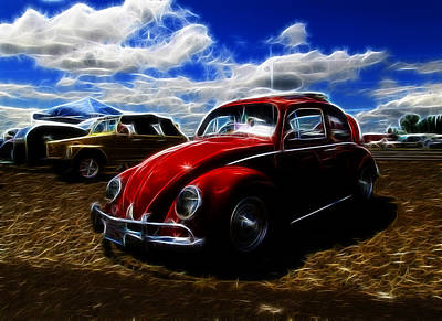 Vw Bug And Vw Thing Poster by Steve McKinzie