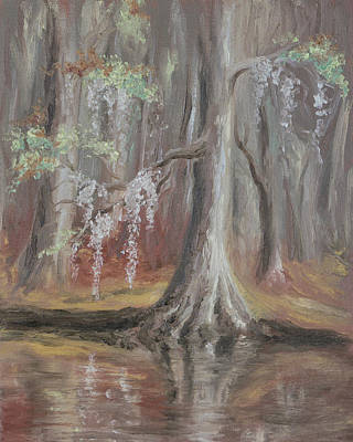 Waccamaw River Cypress Poster by MM Anderson