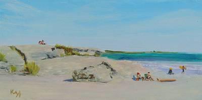 Sachuest Beach Second Beach Newport Ri  Poster by Patty Kay Hall