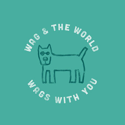 Wag World Circle Poster by Life is Good