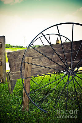 Wagon Wheel Poster by Colleen Kammerer