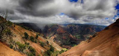 Waimea Canyon Lookout Panorama Poster by Douglas Barnard