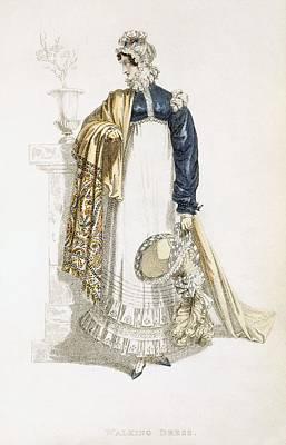 Walking Dress, Fashion Plate Poster by English School