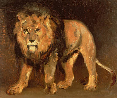Walking Lion Poster by Theodore Gericault