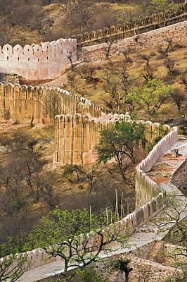 Wall Around Amber Fort, Jaipur, India Poster by Adam Jones