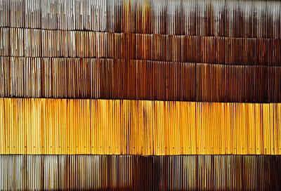 Wall Rusty Corrugated Metal Sheet Poster by Jozef Jankola
