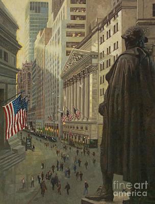 Wall Street 1 Poster by Gary Kim