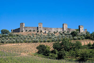 Walled Village Of Monteriggioni Chianti Tuscany Italy Poster by Mathew Lodge