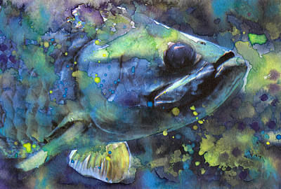 Walleye Poster by Susan Powell