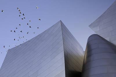 Walt Disney Concert Hall Los Angeles California Architecture Abstract Poster by Ram Vasudev