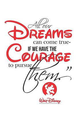 Walt Disney Quote Typography Poster by Lab No 4 - The Quotography Department