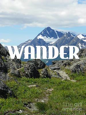 Wander Poster by Jennifer Kimberly
