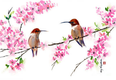 Hummingbirds Poster by Amy Kirkpatrick