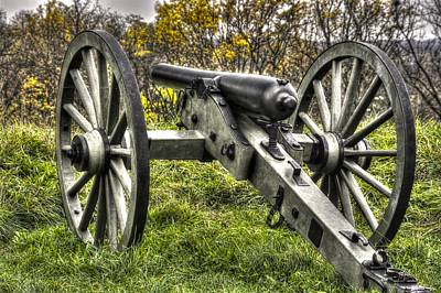 War Thunder - 1st New York Light Artillery Battery I East Cemetery Hill Mid-autumn Gettysburg Poster by Michael Mazaika