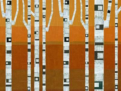 Warm Summer Birches Poster by Michelle Calkins