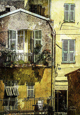 Warmth Of Old Villefranche Poster by Julie Palencia