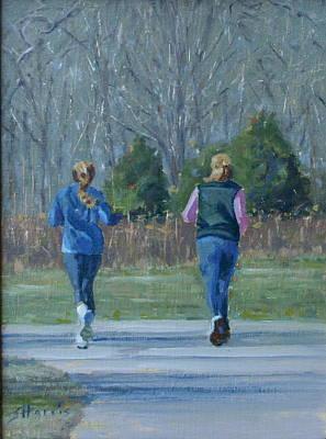 Warner Park Runners Poster by Sandra Harris
