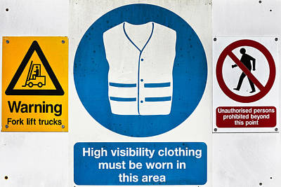 Warning Signs Poster by Tom Gowanlock