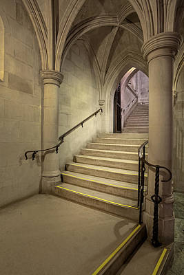 Washington Cathedral Staircase Architecture Poster by Susan Candelario