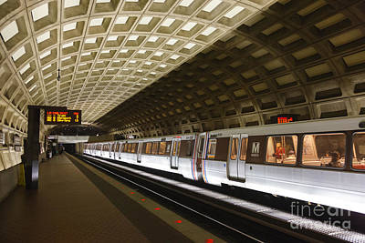 Washington Dc Metro Station IIi Poster by Clarence Holmes