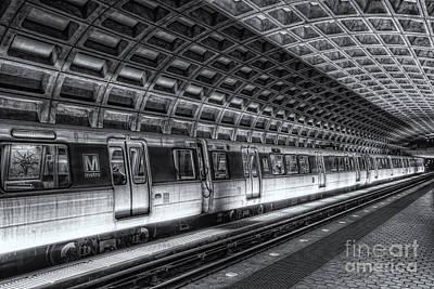 Washington Dc Metro Station Vi Poster by Clarence Holmes