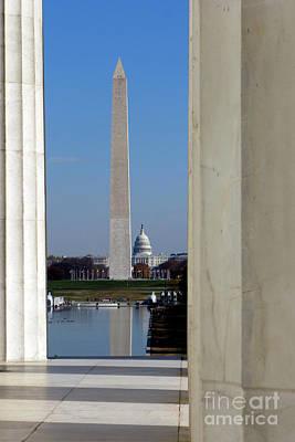Washington Landmarks Poster by Olivier Le Queinec