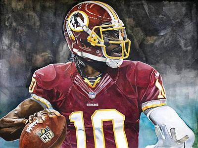 Washington Redskins' Robert Griffin IIi Poster by Michael  Pattison