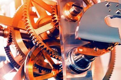 Watch Mechanism Poster by Wladimir Bulgar