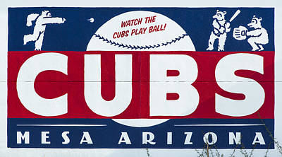 Watch The Cubs Poster by Stephen Stookey