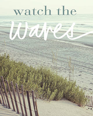 Watch The Waves Poster by Kathy Mansfield