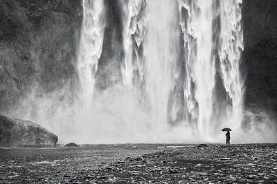 Watcher At The Falls - Iceland Waterfall Photograph Poster by Duane Miller