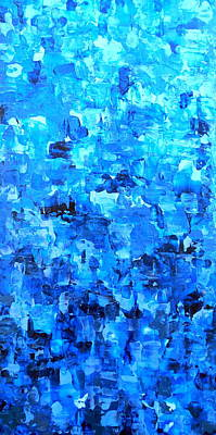 Water And Light Abstract Waterfall Painting Variation Poster by Holly Anderson