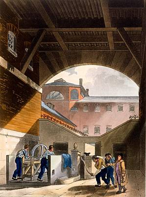 Water Engine, Coldbath Fields Prison Poster by T. & Pugin, A.C. Rowlandson