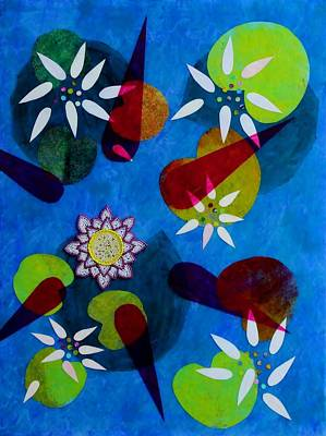 Water Lilies Poster by Ann Laase Bailey