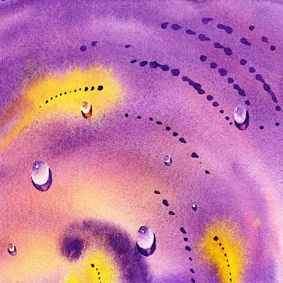 Water On Color Design Six Poster by Irina Sztukowski