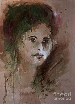 Watercolor Portrait Poster by Stella Levi