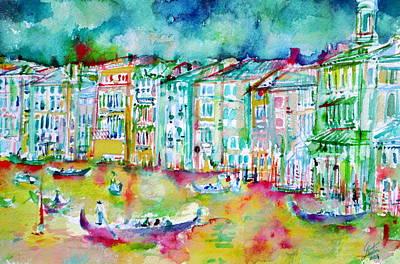 watercolor VENICE - CANAL GRANDE Poster by Fabrizio Cassetta