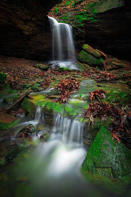Frankfort Mineral Springs Waterfall  Poster by Emmanuel Panagiotakis
