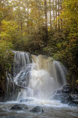 Waterfall After The Rain Poster by Debra and Dave Vanderlaan
